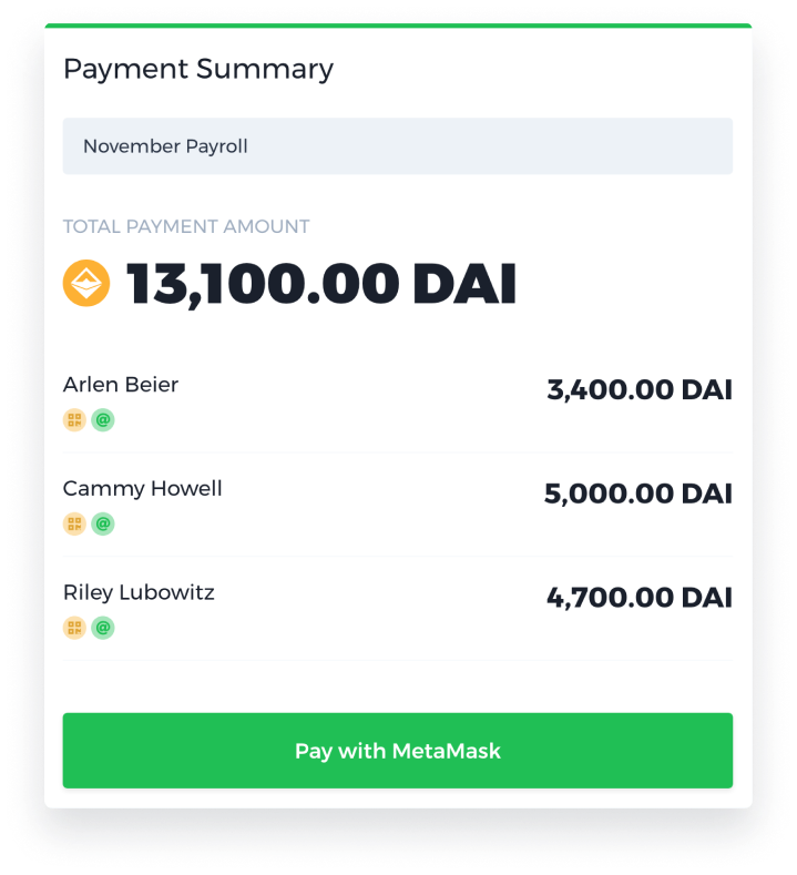 Batch multiple payments